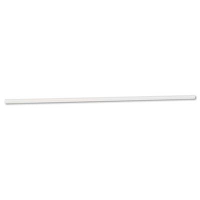 "Unwrapped Jumbo Straws, 7 3/4"", Plastic, Translucent, 500/Pack,"