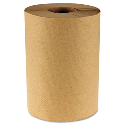 "Hardwound Paper Towels, 8"" x 350ft, 1-Ply Kraft, 12 Rolls/Carton"