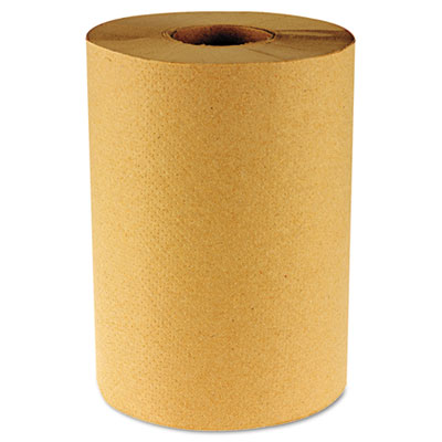 Hardwound Paper Towels, Nonperforated 1-Ply Kraft, 800ft, 6 Roll
