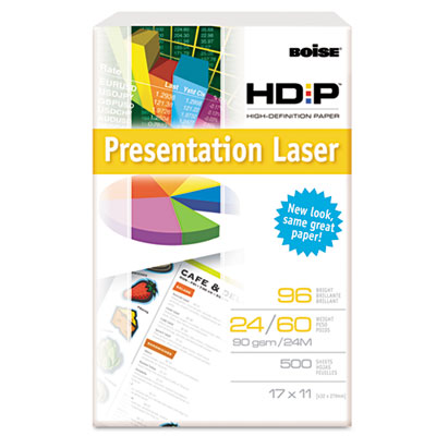 HD:P Presentation Laser Paper, 96 Brightness, 24lb, 11 x 17, Whi
