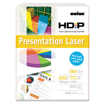 HD:P Presentation Laser Paper, 96 Brightness, 28lb, 8-1/2 x 11,