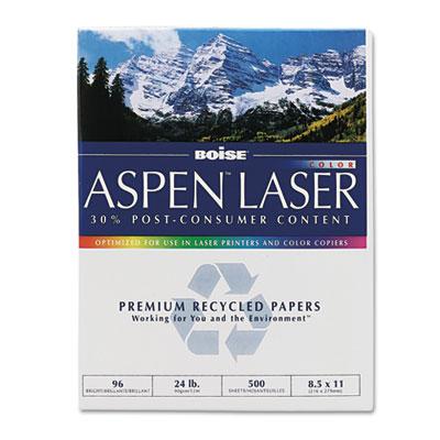 ASPEN Laser Paper, 96 Brightness, 24lb, 8-1/2 x 11, White, 500 S
