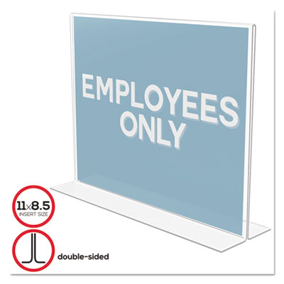 classic image standup doublesided sign holder plastic 11 x 8 12 insert