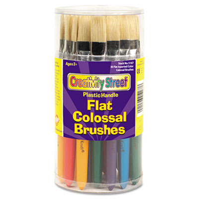 Colossal Brush, Natural Bristle, Flat, 30/Set