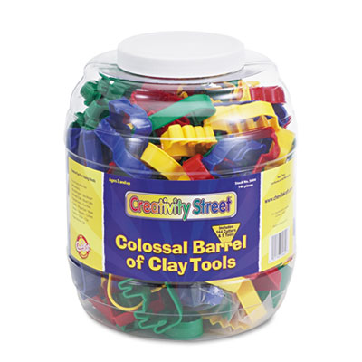 Colossal Barrel of Clay Tools, 144 Cutters in 24 Designs, Five T