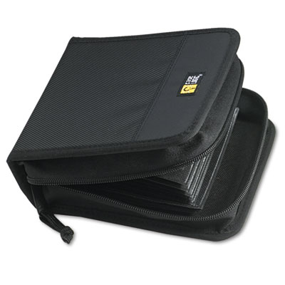CD/DVD Wallet, Holds 32 Disks, Black