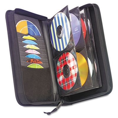 CD/DVD Wallet, Holds 72 Disks, Black