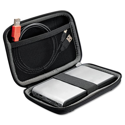 Compact Portable Hard Drive Case, Black