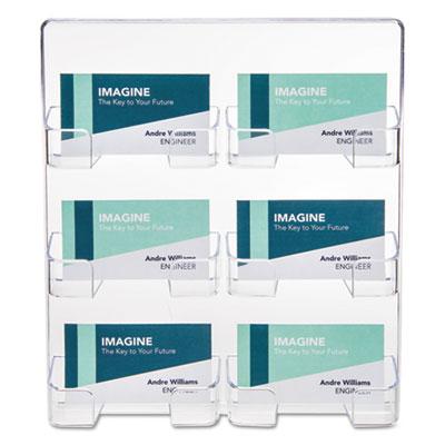 Six pocket wall mount business card holder holds 480 2 x 3 12 six pocket wall mount business card holder holds 480 2 x 3 1 colourmoves Choice Image