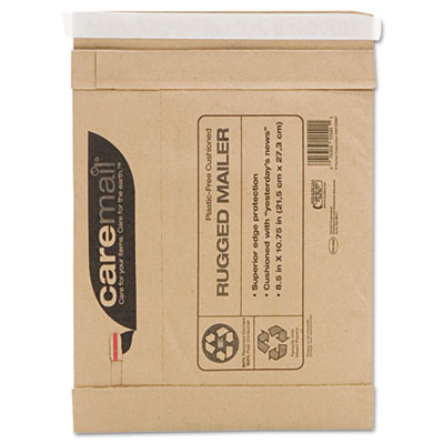 Caremail Rugged Padded Mailer, Side Seam, 8 1/2 x 10 3/4, Light