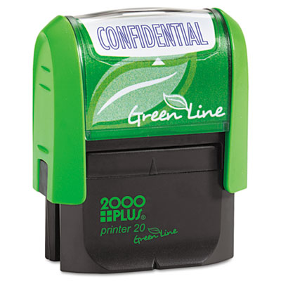 2000 PLUS Green Line Message Stamp, Confidential, 1 1/2 x 9/16,