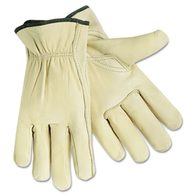 Full Leather Cow Grain Gloves, Extra Large, 12 Pairs