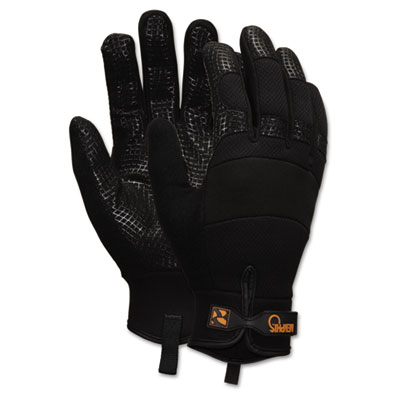 Memphis Multi-Task Synthetic Palm Gloves, Extra Large, Black, Pa