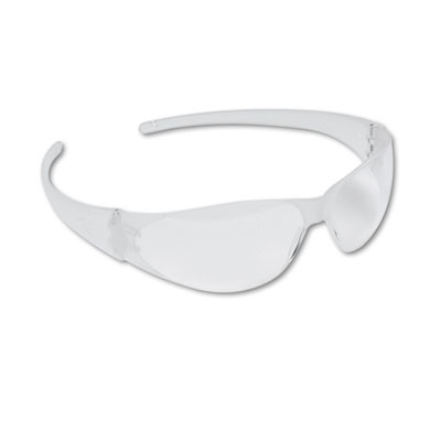 Checkmate Wraparound Safety Glasses, CLR Polycarb Frm, Uncoated