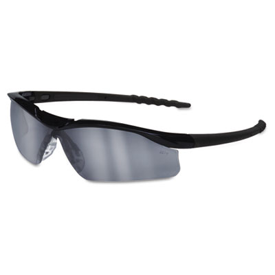 Dallas Wraparound Safety Glasses, Black Frame, Gray Indoor/Outdo
