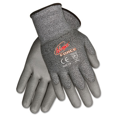 Ninja Force Polyurethane Coated Gloves, Medium, Gray, Pair