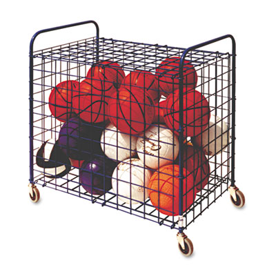 Lockable Ball Storage Cart, 24-Ball Capacity, 37w x 22d x 20h, B