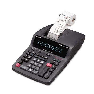 DR-270TM Two-Color Desktop Calculator, Black/Red Print, 4.8 Lines/Sec<br />91-CSO-DR270TM
