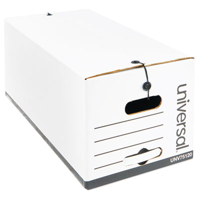 Universal Lift-Off Lid File Storage Box Letter Fiberboard White 12//Carton 95220