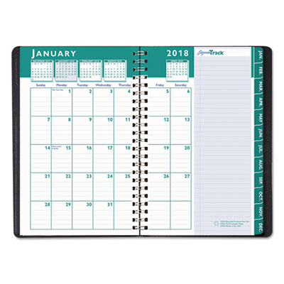 recycled express track weeklymonthly appointment book 85x11 black 2018 2019