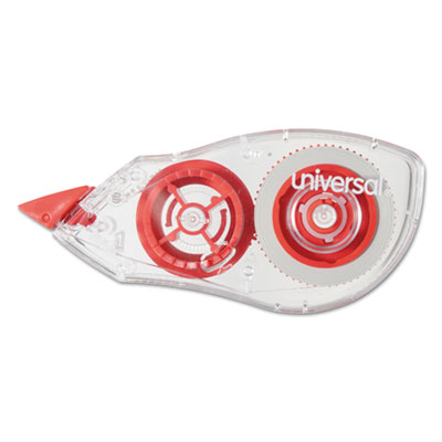 "Correction Tape with Two-Way Dispenser, Non-Refillable, 1/5"" x 315"", 2/Pack<br />91-UNV-75602"