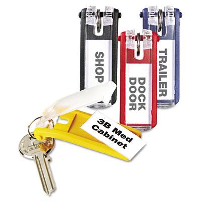 Key Tags for Locking Key Cabinets, Plastic, 1 1/8 x 2 3/4, Assor