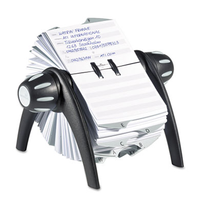 TELINDEX Rotary Address Card File Holds 500 4 1/8 x 2 7/8 Cards,