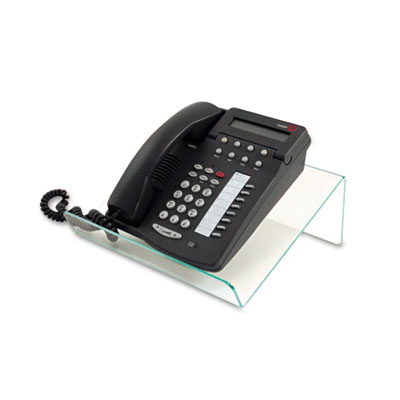 Glasstique Planner/Telephone Stand, 11 3/4 x 9 1/4 x 4 1/4, Gree