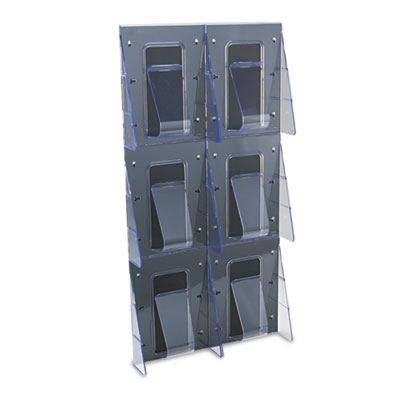 Multi-Pocket Wall-Mount Literature Systems, 18-1/4w x 35-1/4h,Cl