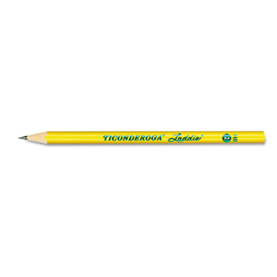 Ticonderoga Laddie Woodcase Pencil w/o Eraser, HB #2, Yellow Bar