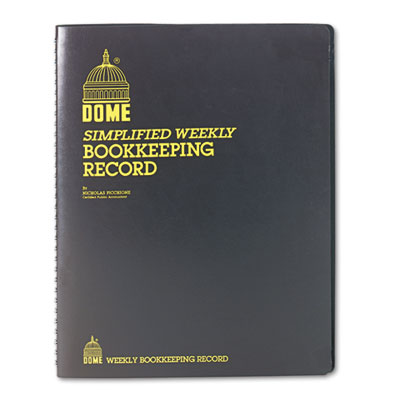 Bookkeeping Record, Brown Vinyl Cover, 128 Pages, 8 1/2 x 11 Pag