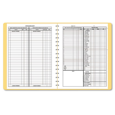 Bookkeeping Record, Beige Vinyl Cover, 128 Pages, 8 1/2 x 11 Pag