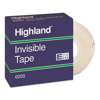 Invisible Permanent Mending Tape, 3/4&quot; x 1296&quot;, 1&quot; Core, Clear<br />91-MMM-6200341296