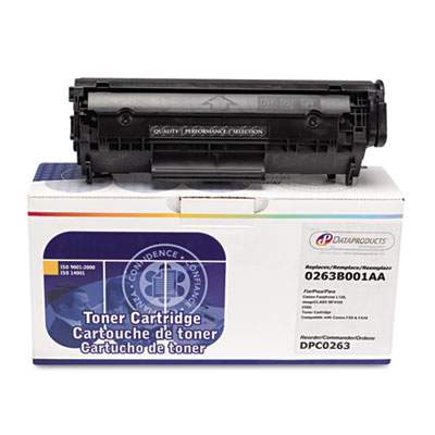 Remanufactured 0263B001AA (104) Toner, 2000 Page-Yield, Black<br />91-DPS-DPC0263