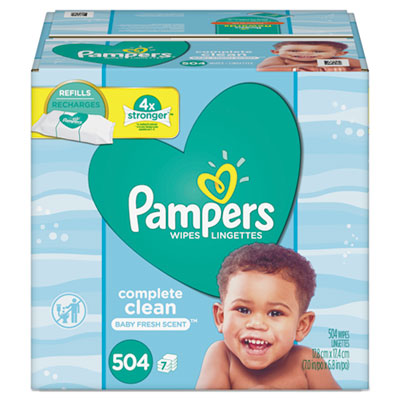 Complete Clean Baby Wipes 1 Ply Baby Fresh 504/Pack 75614
