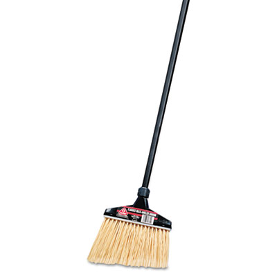 "Maxi-Angler Broom, Polystyrene Bristles, 51"" Aluminum Handle, Bl"