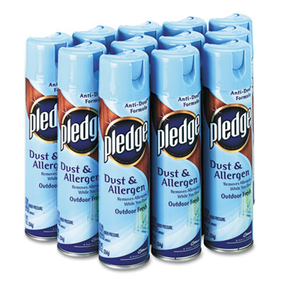 Dust and Allergen, Outdoor Fresh, 9.7oz CFC-Free Aerosol, 12/Car