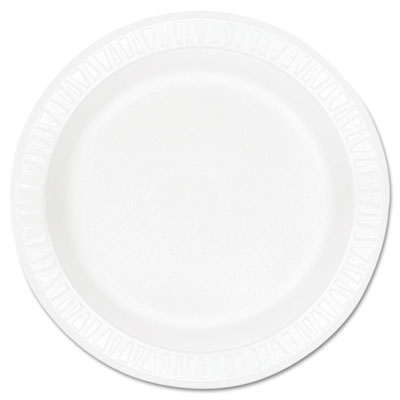 "Concorde Foam Plate, 10 1/4"" dia, White, 125/Pack, 4 Packs/Carto"