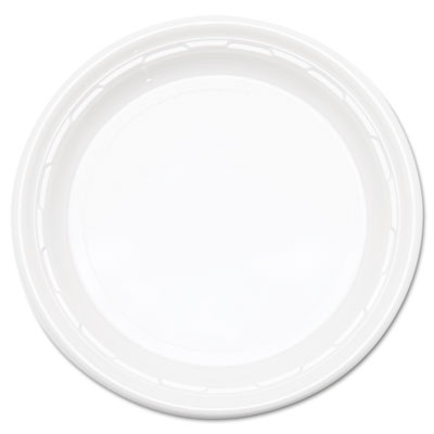 "Famous Service Impact Plastic Dinnerware, Plate, 10 1/4"" dia, Wh"
