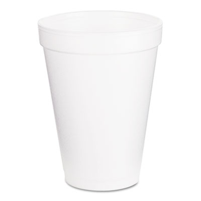 Drink Foam Cups, 12oz, White, 1000/Carton