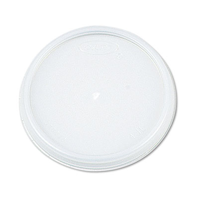 Plastic Lids, for 12oz Hot/Cold Foam Cups, Vented, 1000/Carton