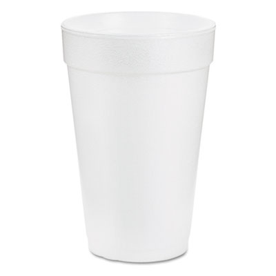 Drink Foam Drink, 14oz, White, 1000/Carton