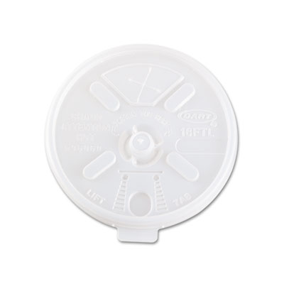 Translucent Lids for 12-24oz Foam Cups, Straw Slot, 1000/Carton