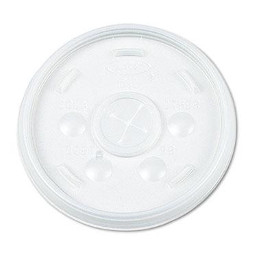Plastic Lids, Straw Slot, Fits 32oz Hot/Cold Foam Cups, White, 5
