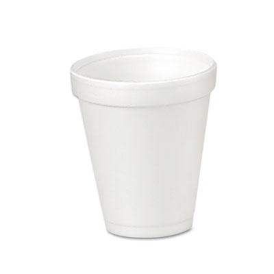 Drink Foam Cups, 4oz, 25/Bag, 40 Bags/Carton