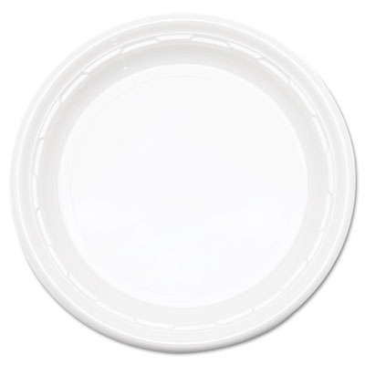 "Famous Service Plastic Dinnerware, Plate, 6"" dia, WE, 125/Pack,"