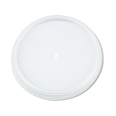 Plastic Lids, for 8oz Hot/Cold Foam Cups, Vented, 1000 Lids/Cart