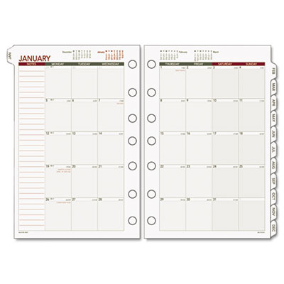 Recycled Monthly Planning Pages, 5-1/2 x 8-1/2, 2015