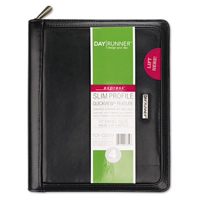 "Windsor Refillable Planner, Black, 5 1/2"" x 8 1/2"""