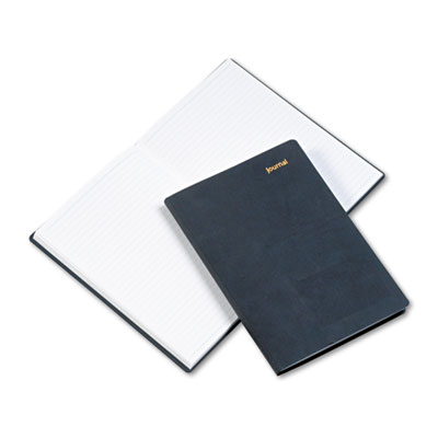 Leatherlike Journal, Black Polyurethane Cover, 160 Pages, 5 1/2